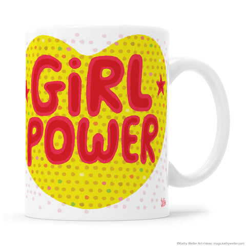 GIRL POWER heart mug! Perfect gift for sister, daughter or best friend.