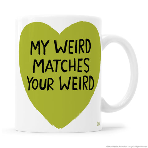 WEIRD Green Heart Goth Punk Anti-Valentine Valentine Mug