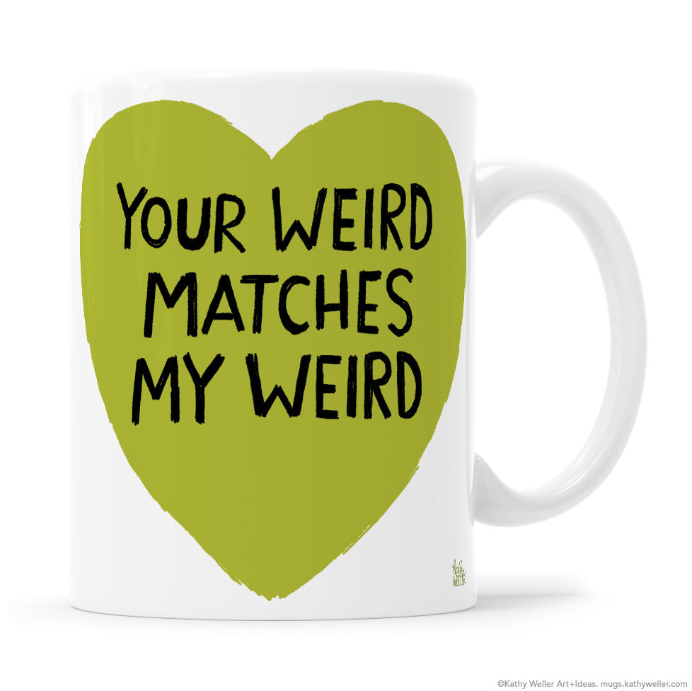 WEIRD Goth Punk Anti Valentine Day Gift Mug Couple Mugs