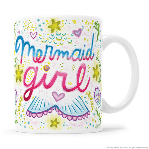 Mermaid Girl Mug and Mermaid Mama Mug