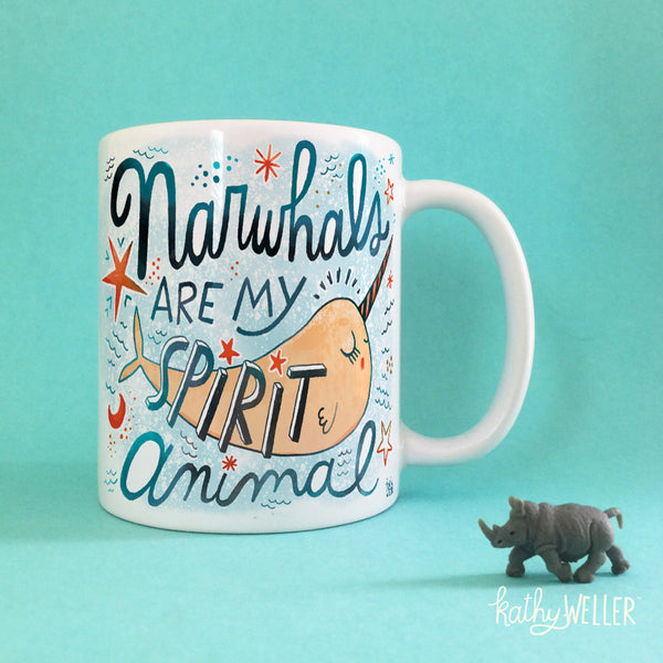 Narwhals Are My Spirit Animal Mug