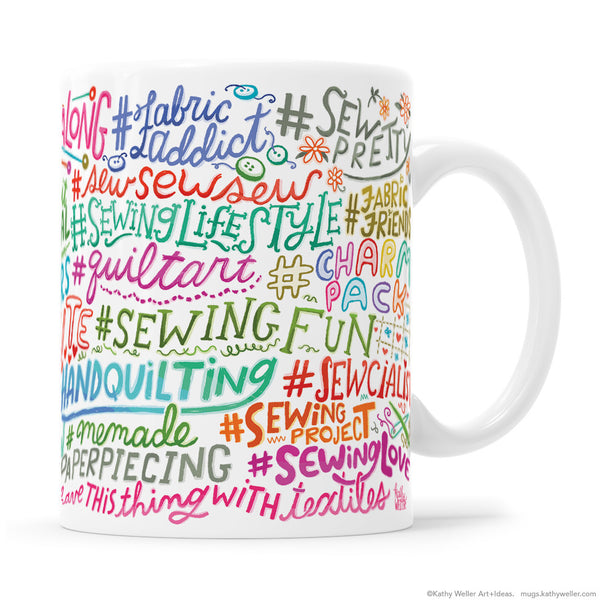 Hashtag Mug: Instagram Sewing / Quilting