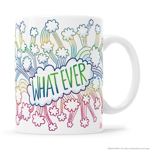 WHATEVER Clouds + Rainbows Mug