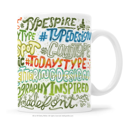 Hashtag Mug: Instagram Hand Lettering / Typography