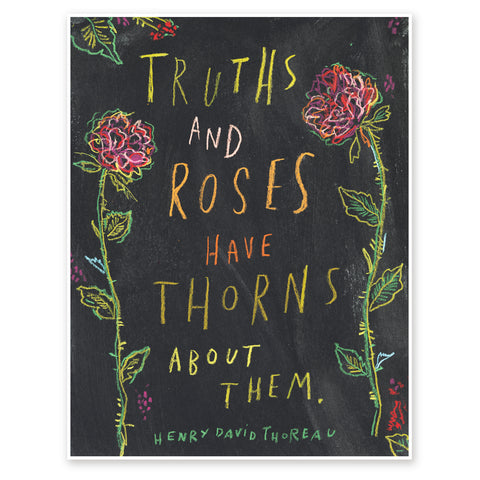 Truths And Roses Henry David Thoreau art print