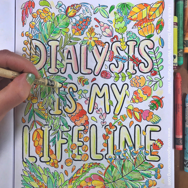 I Am A Kidney Disease Warrior Coloring Book