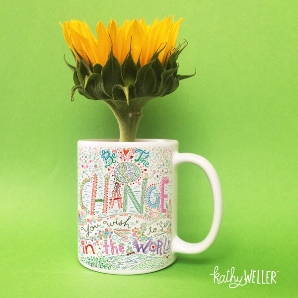 Be The Change Gandhi Mug