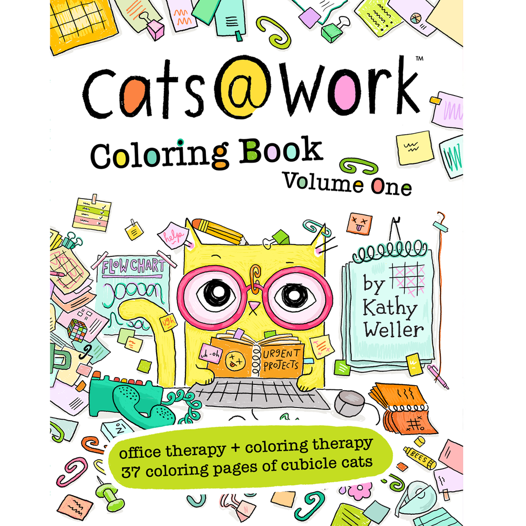 Cats@Work Vol. 1 Coloring Book