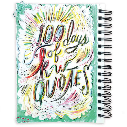 100 Days Of KW Quotes Art Book (Softcover)