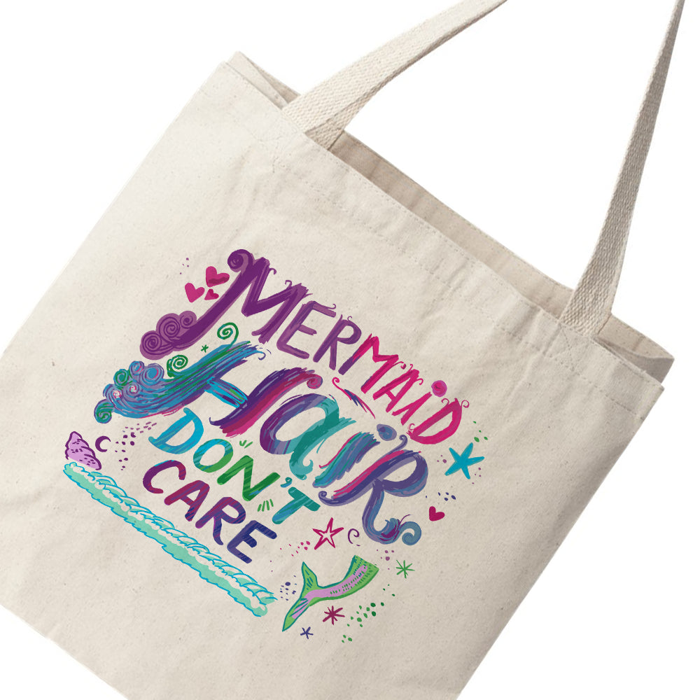 Mermaid Hair Don't Care Canvas Tote