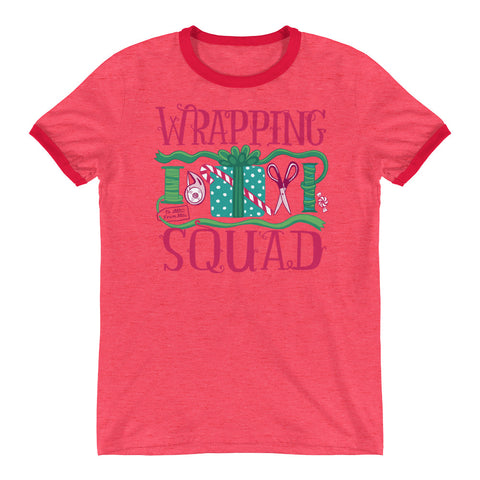 Wrapping Squad Holiday Ringer T-Shirt