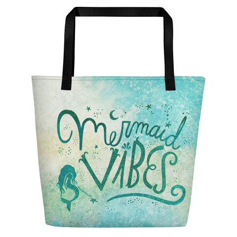 Mermaid Vibes Aqua Beach Bag
