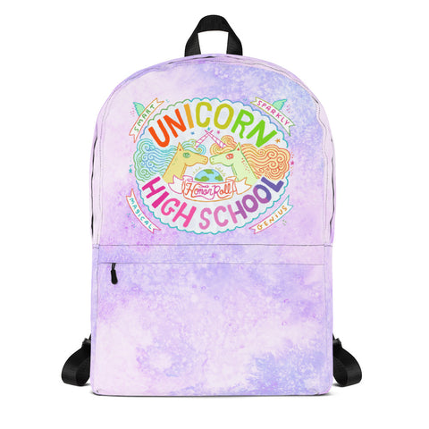 Unicorn High School Purple Backpack