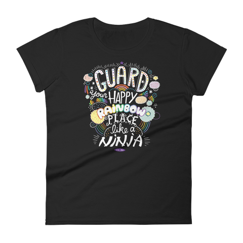 Guard Your Happy Rainbow Place Like A Ninja T-shirt