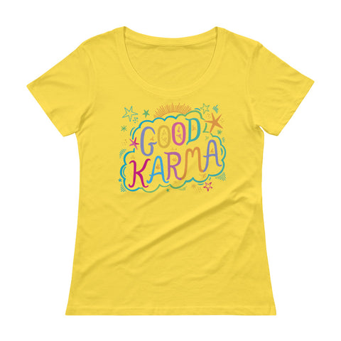 Good Karma Ladies' Scoopneck T-Shirt