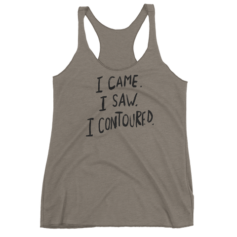 I Came I Saw I Contoured Racerback Tank Top