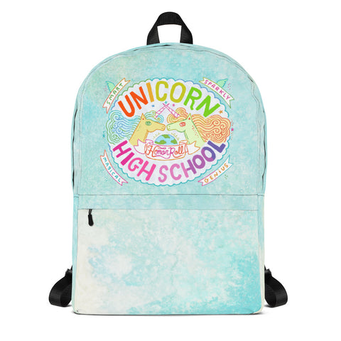 Unicorn High School Aqua Backpack