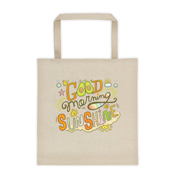 Good Morning Sunshine Avocado Canvas Tote
