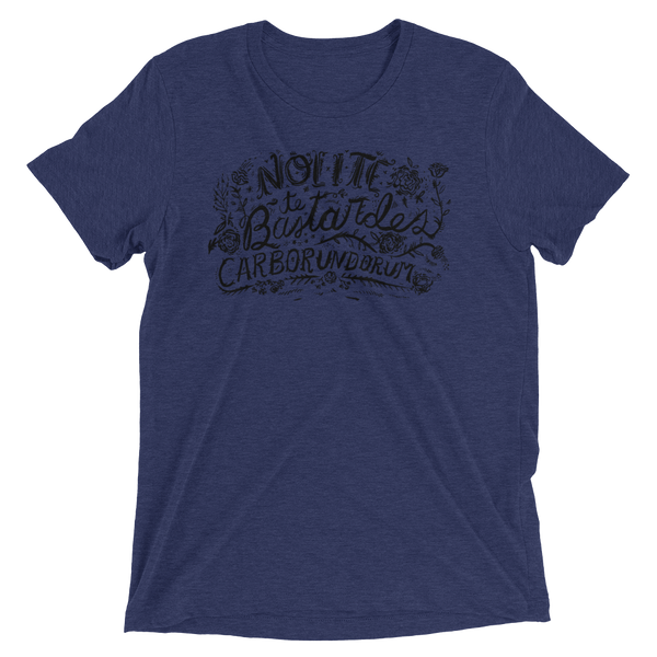 Nolite Te Bastardes Carborundorum hand lettered tee shirt by Kathy Weller Art.