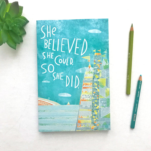 She Believed She Could So She Did Blank Journal - Dot Grid