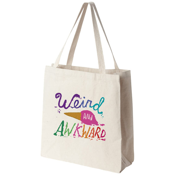 Weird and Awkward Rainbow Ice Cream Canvas Tote