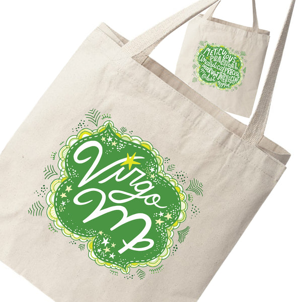 VIRGO Zodiac Two-Sided Canvas Tote