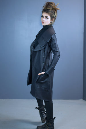 Asgard triple collar coat-water resistant