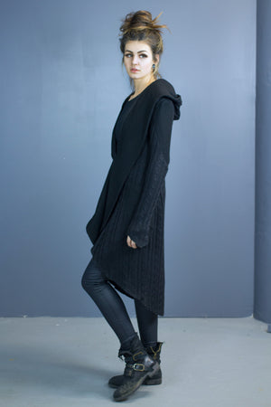 Eden hooded cable knit cardigan