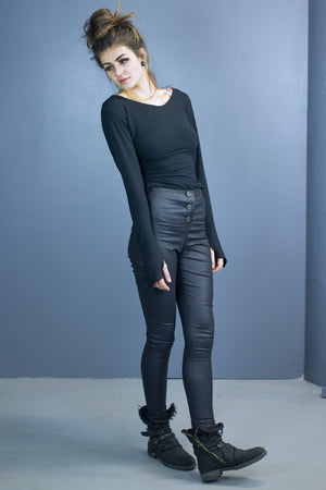 Bau skinny pants-coated