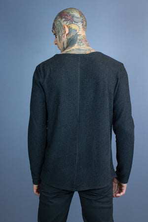 Tarben diagonal rib sweater