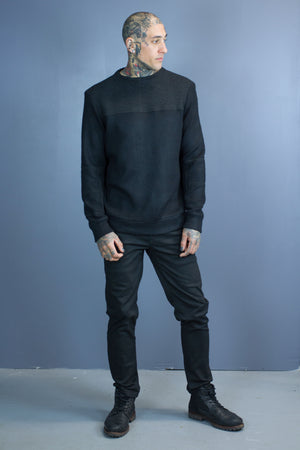 Nasu rib panel sweater