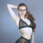 Kenzie triangle bra - all mesh