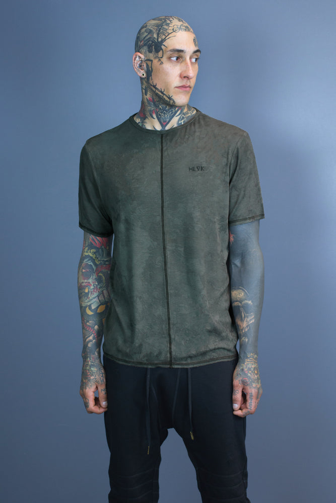 Halo essential tee - olive dyed
