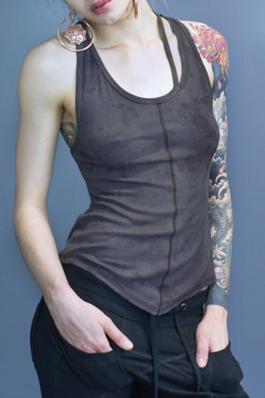 Landry detached binding relaxed fit tank - musk dyed