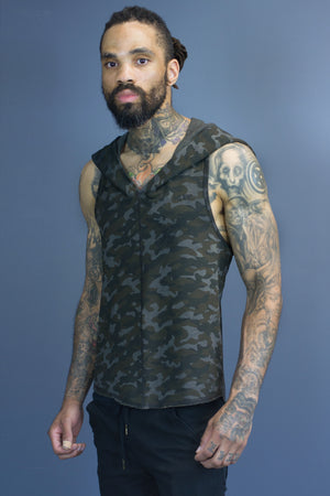 Doomlord tank - batch dyed camo