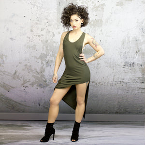 Size 2 Terese dress-olive drab