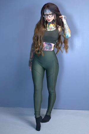 Siren leggings-soft olive drab