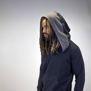 Pullover Doomlord Hooded Sweatshirt / Grey Trim Detail, Men's