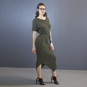 Dakota pointed hem maxi dress