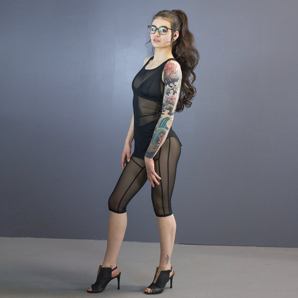 London leggings - capri length - all mesh
