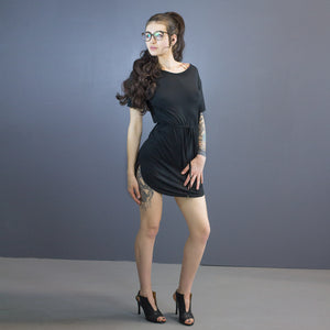 Aiden curved hem mini dress
