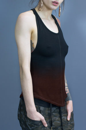 Sutton relaxed fit tank - black gradient