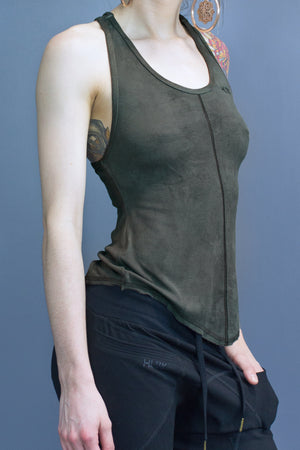 Sutton relaxed fit tank - olive dyed