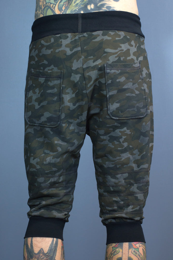 Atori cropped joggers - batch dyed camo