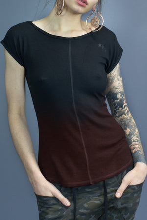 Remi essential fit tee - black gradient