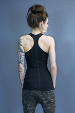 Marley straight hem tank - black