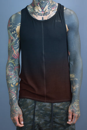 Dante straight hem tank - black gradient