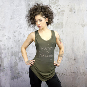 Size 6 Meaningless tank, olive drab