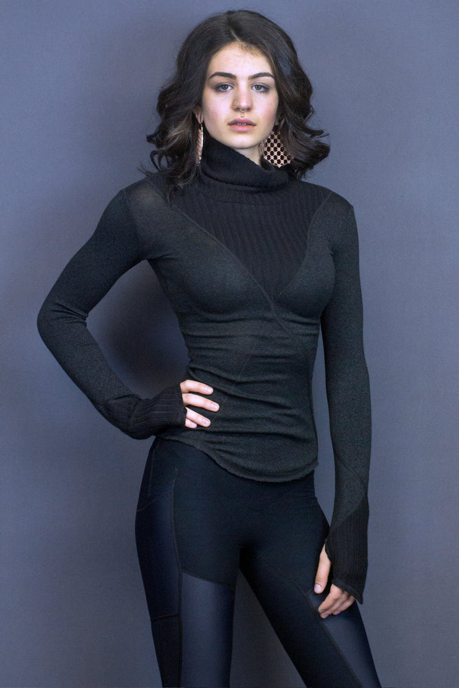Troy turtleneck - rib detail