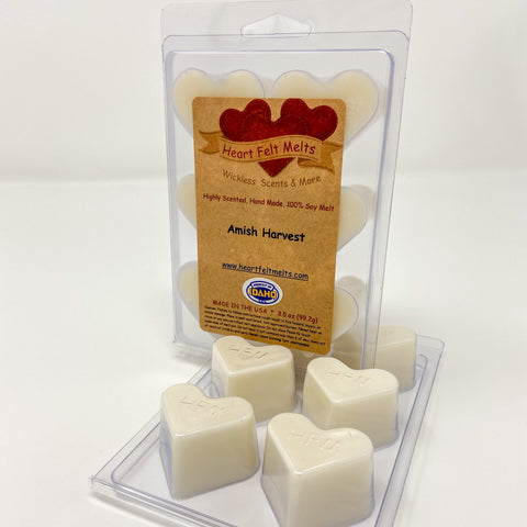 AMISH HARVEST - Premium Scented Clamshell Heart Melts